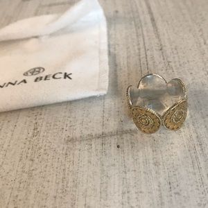 Anna Beck Signature Beaded Circle Band Gold Ring